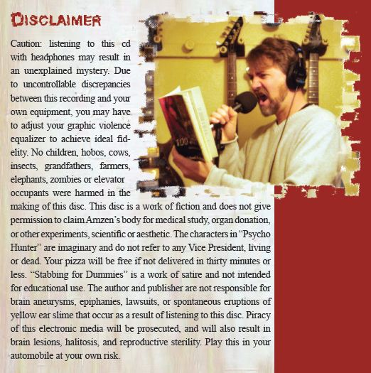 """Disclaimer"" – Inner Sleeve Back Cover"