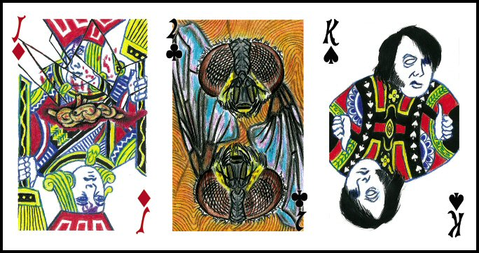 Sample Cards from Custom Play Dead Deck (art by David Liscomb)