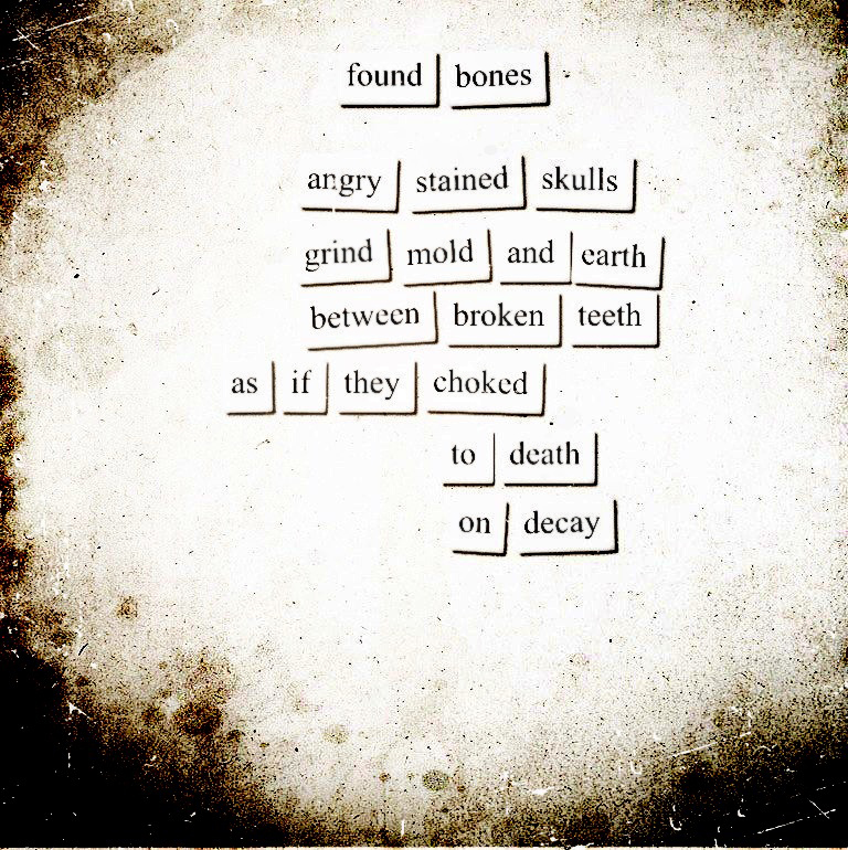 Image of an art poem inspired by the Fridge of the Damned project